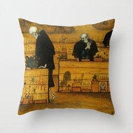 THE GARDEN OF DEATH - HUGO SIMBERG Throw Pillow