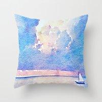 sail Throw Pillows featuring Sail by Acacia Alaska