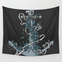 anchor Wall Tapestries featuring Anchor by BEADLER Design and Illustration