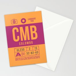 Baggage Tag B - CMB Colombo Sri Lanka Stationery Cards