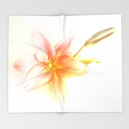 Pink and Yellow Tiger Lily - Dreamy Floral Photography - Flower Art Prints, T-shirts, Phone Cases... Throw Blanket