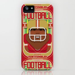American Football Red and Gold - Enzone Puntfumbler - Hayes version iPhone Case
