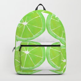 Pattern of Limes in Watercolor Backpack