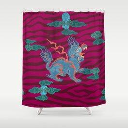 Foo Dragon on Magenta Shower Curtain
