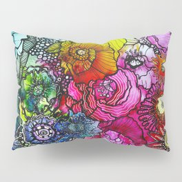 Abstract Floral 2 Pillow Sham