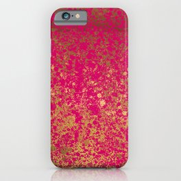 Berry and Gold Patina Design iPhone Case