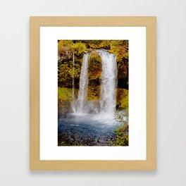 Koosah Falls Autumn Framed Art Print
