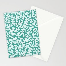 turquoise coral pattern Stationery Cards