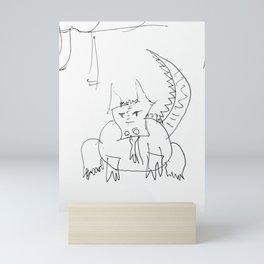 Fat dragon Mini Art Print