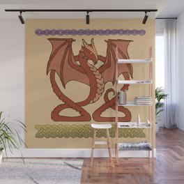 Red Dragons Wall Mural