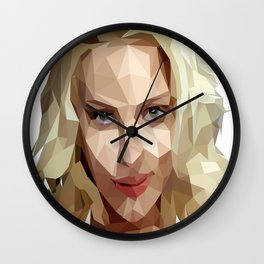 Scarlett Johansson Low Poly Art Wall Clock