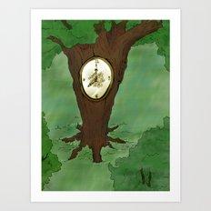 Tick Tock goes the tree Art Print
