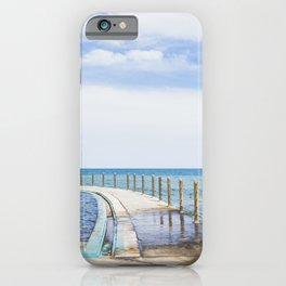 Swimming pool in the ocean / blue travel fine art print / Madeira Island iPhone Case