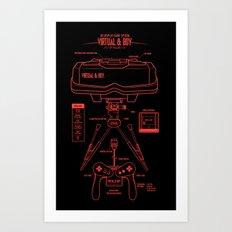 Virtual & Boy Art Print