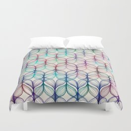 Mermaid's Braids - a colored pencil pattern Duvet Cover