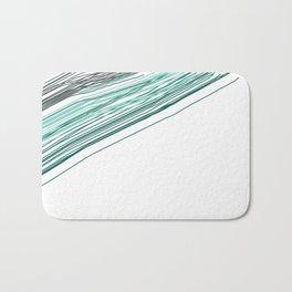 Green & Grey stripe Bath Mat