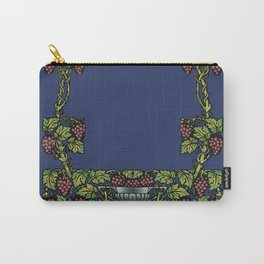 wine floral frame 2 Carry-All Pouch