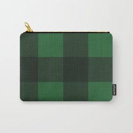 Green and Black Plaid Carry-All Pouch