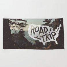 Road Trip USA Beach Towel