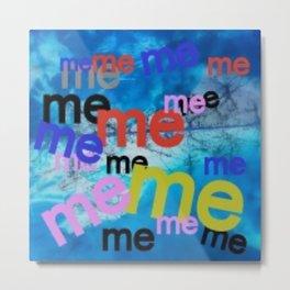 Blue Me Metal Print