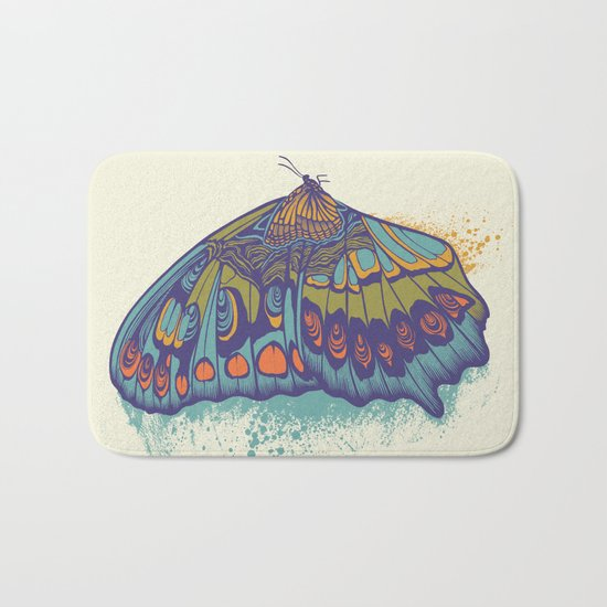Butterfly Life Cycle Bath Mat