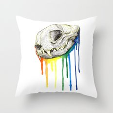 Skull Candy Kitty Throw Pillow