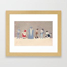 Claymation Lineup  Framed Art Print