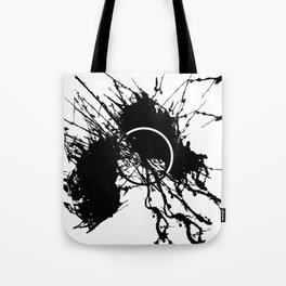 Form Out Of Chaos - Black and white conceptual abstract Tote Bag