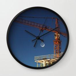 Lifting the Moon Wall Clock