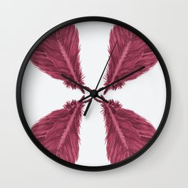 Feather Fan - Bordeux Wall Clock