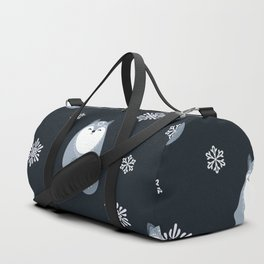 Winter Fox And Snowflakes Duffle Bag