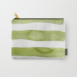 Green Stripe Abstract Art Carry-All Pouch