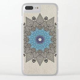 Digital Mandala #5 Clear iPhone Case