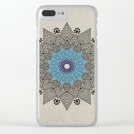 Digital Mandala #5 Clear iPhone Case