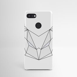Geometric Owl - Grey & White Android Case