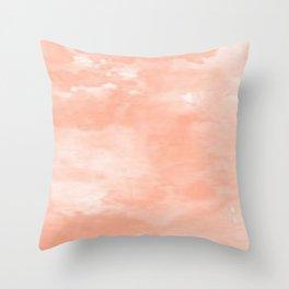 Peach Dreams Throw Pillow