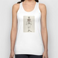 smoking Tank Tops featuring Skeletons Smoking by Marko Köppe