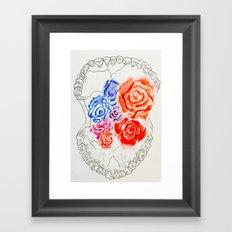 Skeleton Rose #2 Framed Art Print