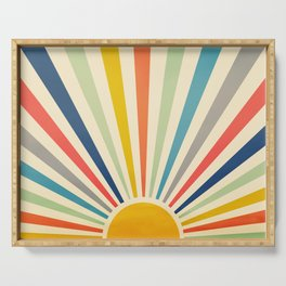 Sun Retro Art III Serving Tray