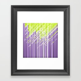 Green and Violet Dynamic Lines Framed Art Print