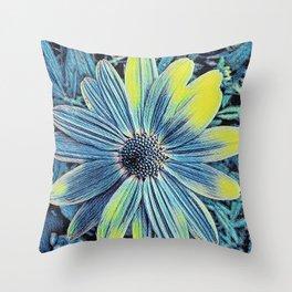 Summertime Blue Throw Pillow