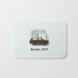 A Trabbi in Berlin Bath Mat