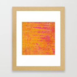 Orange & Hot Pink Abstract Art Collage Framed Art Print
