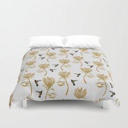 Hummingbird & Flower I Duvet Cover