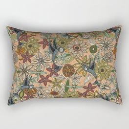 nectar bird garden peach Rectangular Pillow