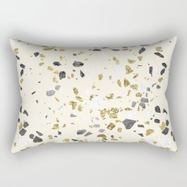 Glitter and Grit Yellow Gold Marble Rectangular Pillow