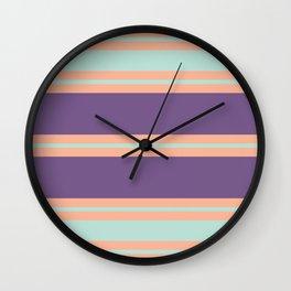 Minimal Abstract Apricot Purple SeaGreen 15 Wall Clock