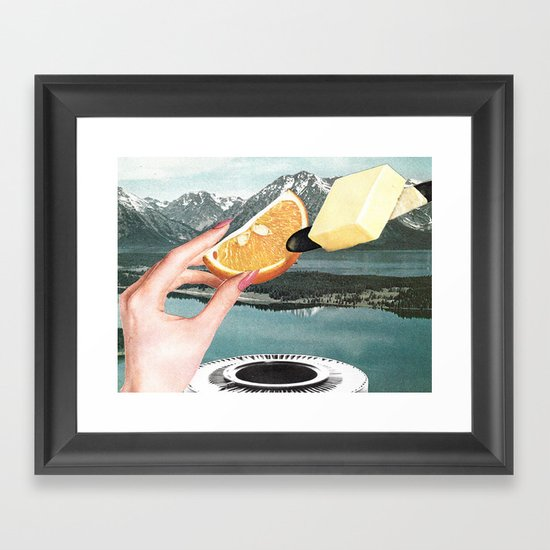 Let's Cut Corners And Run Circles Around Them Framed Art Print