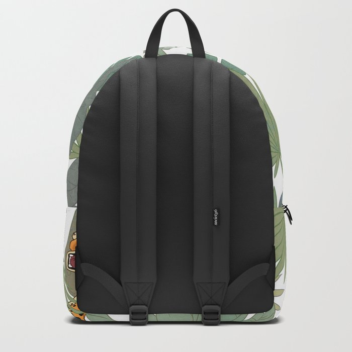 Leopards in the jungle pattern. Backpack