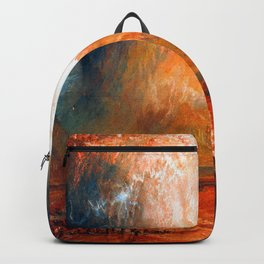 William Turner Vesuvius Eruption Backpack